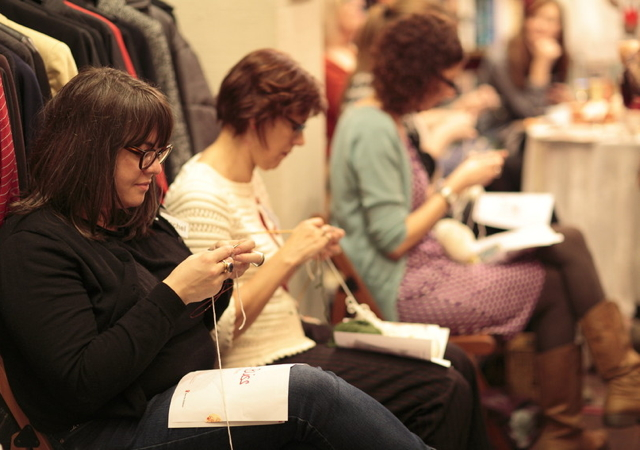 A special knitting session with the one and only Debbie Bliss was held on Thursday 22nd November at the Living & Giving shop in Primrose Hill. Fifteen top craft bloggers attended, armed with their needles, to knit miniature knitting patterns designed exclusively by Debbie. They were joined by our special guest Trisha Malcolm, Edito