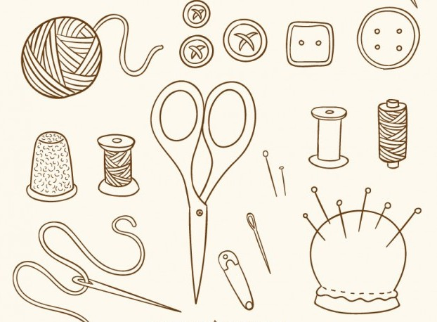 hand-drawn-sewing-vintage-objects_23-2147522638